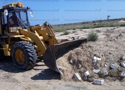 بالصور| حملة لإزالة التعديات على الأراضي الزراعية في بلطيم