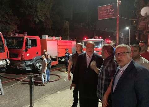صور.. محافظ القاهرة يتابع عملية إطفاء حريق دير الأنبا بولا