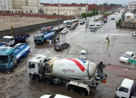 بالصور  السيول تغرق مدينة جدة في السعودية