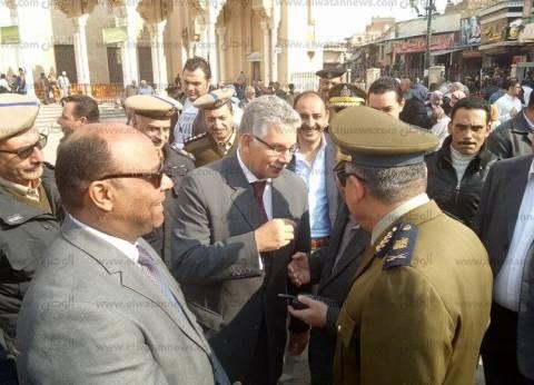 بالصور| مدير امن الغربية يتفقد محيط مسجد السيد البدوي