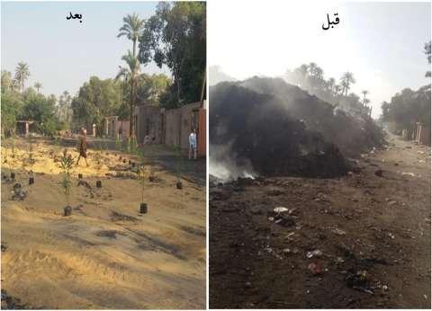 """رفع 3800 طن مخلفات من """"مقابر أبووالي"""" في الحوامدية"""