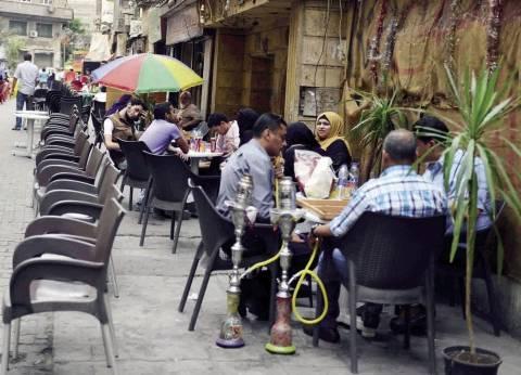مقاهى وسط البلد: «الخدمة مصرية».. والزوار من سوريا