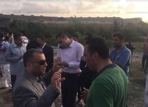 مساعد وزير الداخلية يتابع نقل مصابي حادث قطاري الإسكندرية
