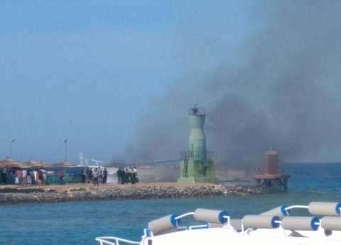 نشوب حريق في مركب سياحي بالغردقة.. والحماية المدنية تحاول السيطرة عليه