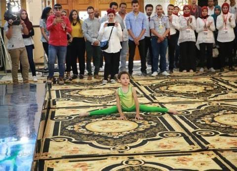 عروض رياضية للأطفال والشباب في زيارة وزير الشباب إلى كفر الشيخ