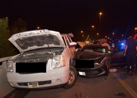 إصابة شخصين إثر حادث تصادم في الغربية