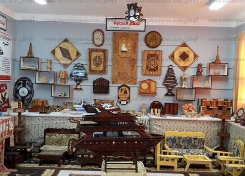 بالصور| معرض لمنتجات الموهوبين بمدرسة برج البرلس الثانوية في كفر الشيخ