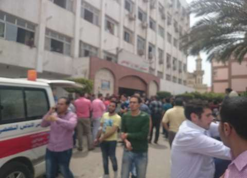 خروج أول جثمان لأحد شهداء تفجير كنيسة طنطا لصلاة الجنازة