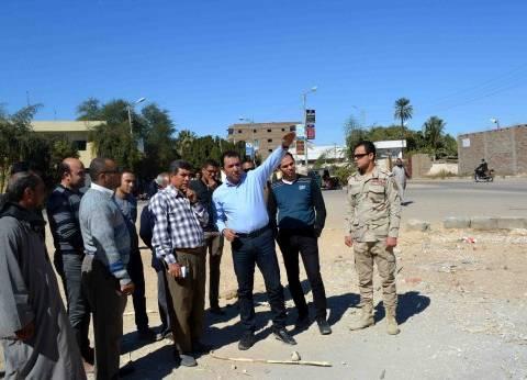محافظ الأقصر يتفقد مشروعات الخطة الاستثمارية بمركز ومدينة أرمنت
