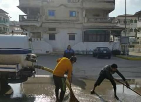 الدفع بسيارات لسحب مياه الأمطار في طامية بالفيوم
