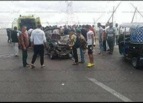 مصرع وإصابة 3 في تصادم سيارتين بكفر الشيخ