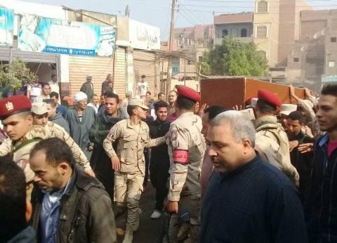 """الفيوم تشيع جنازة الشهيد المجند """"محمود"""" ضحية الإرهاب بسيناء"""