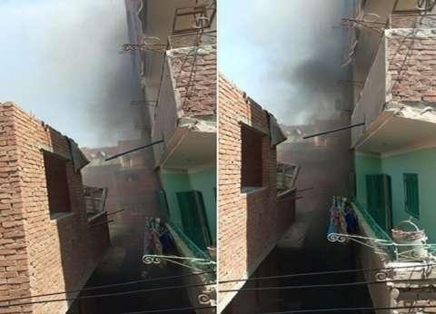 الحماية المدنية تنفذ 4 أسر تحاصرهم النيران في منزل بقنا