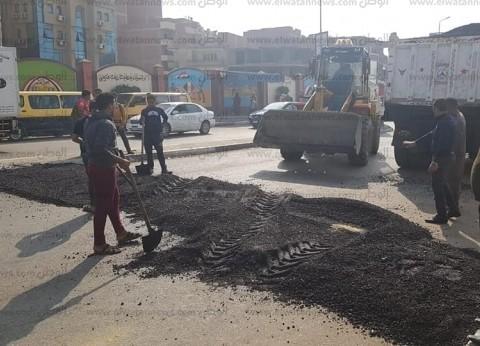 مدير أمن الغربية يكلف ضباط المرور بإنشاء مطبات صناعية بمدخل المحلة