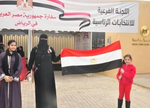 بالصور| المصريون بالسعودية يصوتون بكثافة في انتخابات الرئاسة
