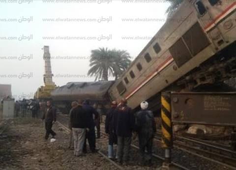 """""""الوطن"""" تنشر صورا جديدة لحادث انقلاب قطار بني سويف"""