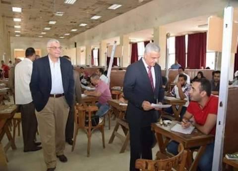 نواب رئيس جامعة المنوفية يتفقدون امتحانات الدراسات العليا
