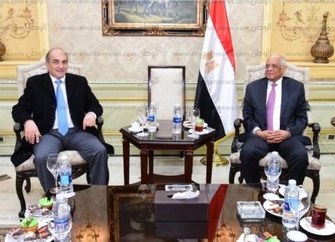 """""""عبدالعال"""" يودع نظيره القبرصي بعد زيارة لمصر استغرقت يومين"""