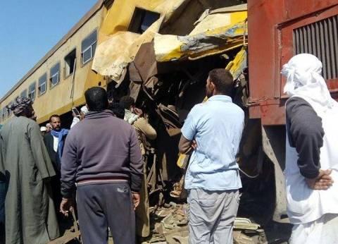 أول صور من موقع حادث تصادم قطاري البحيرة