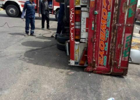 إصابة 7 عمال في انقلاب سيارة على الطريق الدائري غرب الإسكندرية