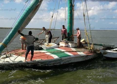بالصور| حملة أمنية لإزالة التعديات على بحيرة البرلس