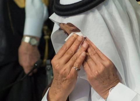 عيون الملك سلمان تدمع في حفل تخرج نجله