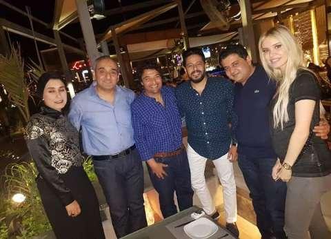 الإعلامية التونسية عائشة تلتقي هاني شاكر على هامش زيارتها لمصر