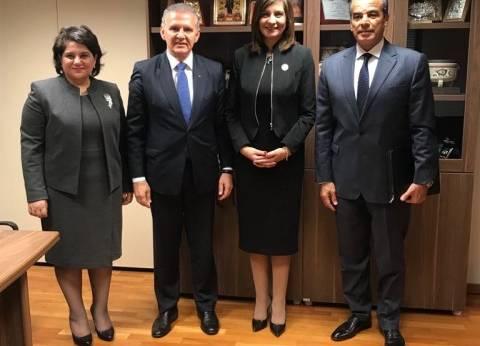 وزيرة الهجرة تبحث طلب الجالية المصرية في قبرص تعلم اللغة العربية