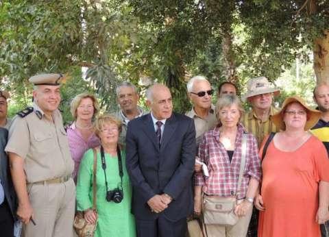 مدير أمن المنيا يتفقد أعمال تأمين الأفواج السياحية ببني حسن