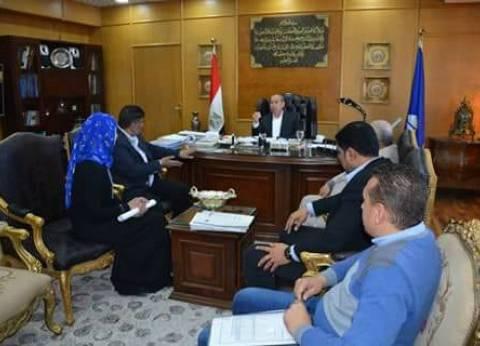 تشكيل لجنة لفحص خط شركة مياه الشرب والصرف الصحي بالمنطقة الحرة بدمياط