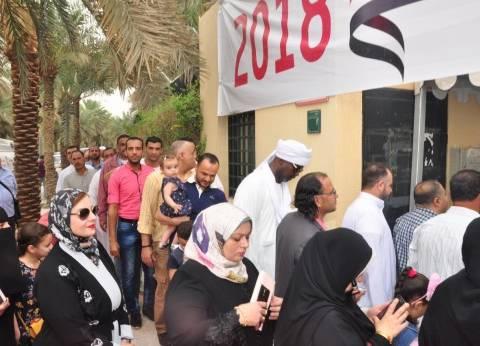 تكدس أمام السفارة المصرية بالسودان للتصويت في الانتخابات الرئاسية