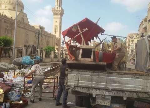 """""""أمن القاهرة"""": تنفيذ 230 قرار إزالة وتحرير 55 محضر إشغال طريق"""
