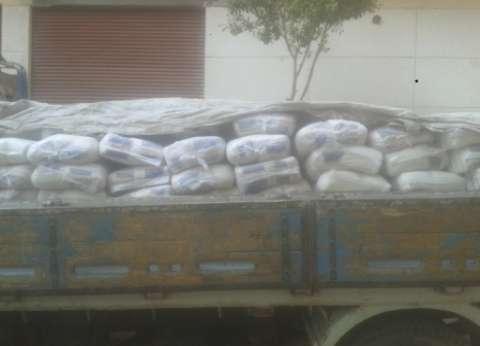 ضبط 437 كيس تمويني مدعم قبل بيعها في السوق السوداء بالفيوم