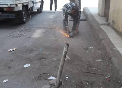 إزالة الحواجز الحديدية في 6 شوارع بحي الزيتون