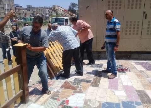 رفع 300 إشغال ثابت ومتحرك بشوارع وميادين البحيرة