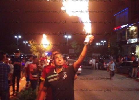 """أهالي أسوان يحتفلون بصعود مصر للمونديال: """"منتخبنا مفيش زيه"""""""