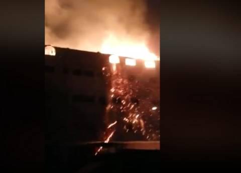 بالفيديو| حريق هائل في كنيسة بشبرا الخيمة