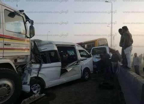 إصابة 13 شخصا في حادث تصادم بفاقوس في الشرقية