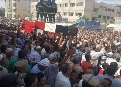وصول جثمان شهيد العريش الثاني إلى مسقط رأسه في كفر الشيخ