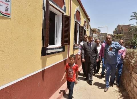 بالصور| إعادة إعمار 35 منزلا بقرية نزلة باقور في أسيوط