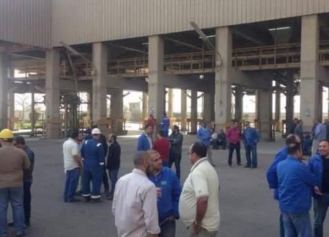 تفاقم أزمة عمال «المصرية للأسمدة» فى السويس بعد حبس عاملين بتهمة التحريض