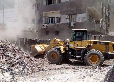 رفع 50 طن مخلفات وقمامة من شوارع حي شرق سوهاج