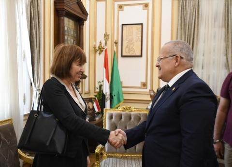 رئيس جامعة القاهرة يلتقي مديرة المجلس الثقافي البريطاني
