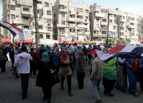 """""""دعم مصر"""": توافد شباب وسيدات وكبار سن  في اليوم الثاني للانتخابات"""