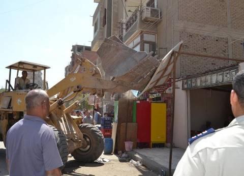 """أمن كفر الشيخ يزيل 120 حالة إشغال ومخالفات بـ""""الرياض"""""""