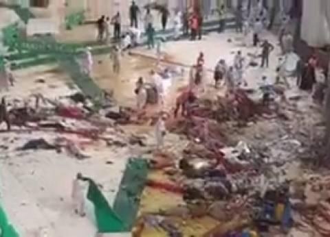 """""""الصحة"""": 12 مصابا في صفوف الحجاج المصريين جراء سقوط رافعة بالحرم"""