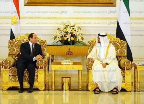 محمد بن زايد لـ السيسي: موقفنا ثابت بمساندة مصر على المستويات كافة