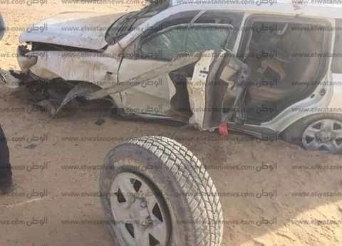 """إصابة 5 أشخاص في انقلاب سيارة على طريق """"مطروح - سيوة"""""""