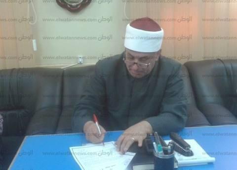 رئيس منطقة كفر الشيخ الأزهرية يتفقد كنترولات امتحانات النقل