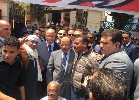 بالصور| شعراوي وعبدالعال يتفقدان لجان الاستفتاء في القاهرة